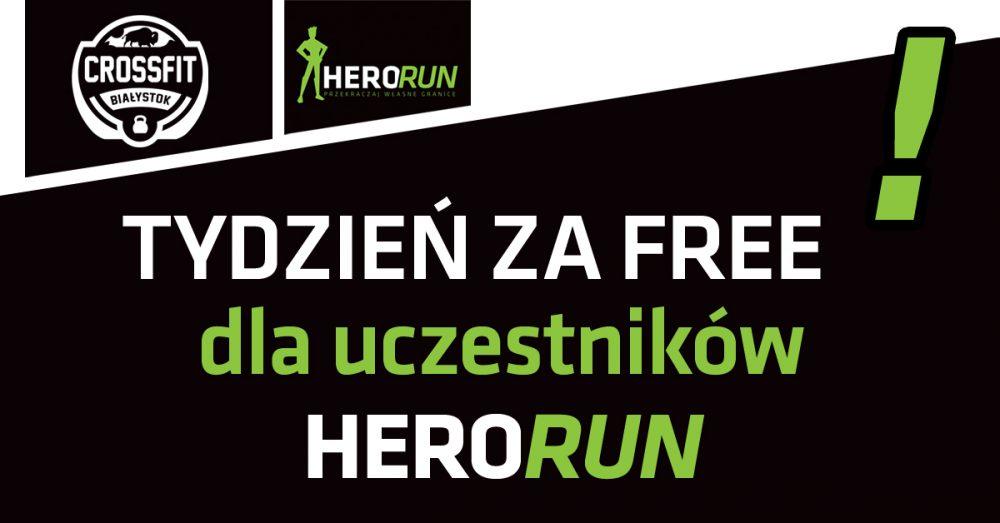 tydzień za free dla uczestników HeroRun